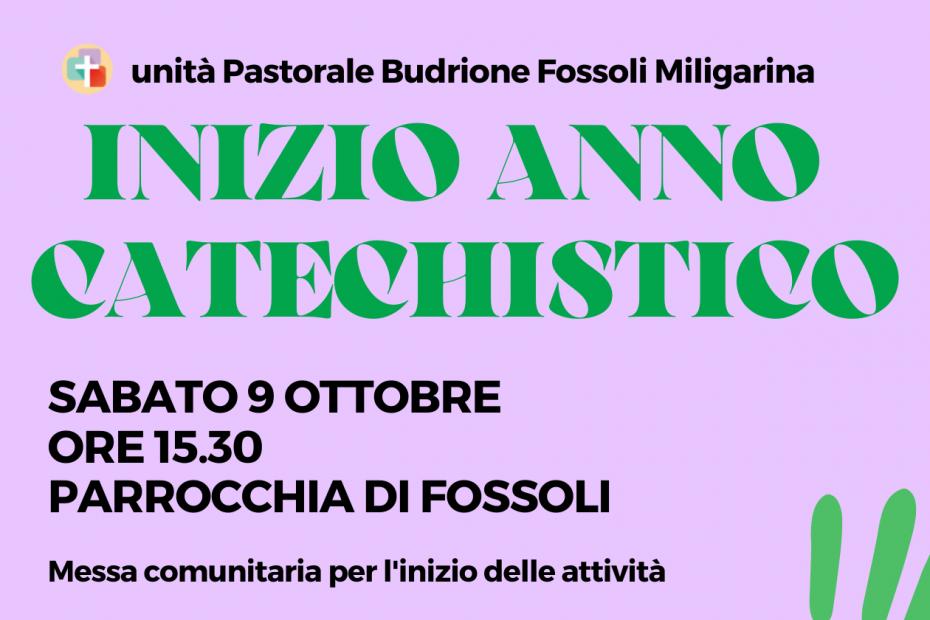 inizio anno catechistico - fossoli - budrione - Migliarina.bfm